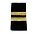 Rear Commodore Stripes Only Epauulets