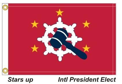 HD - International President Elect 5 Gold Stars Up